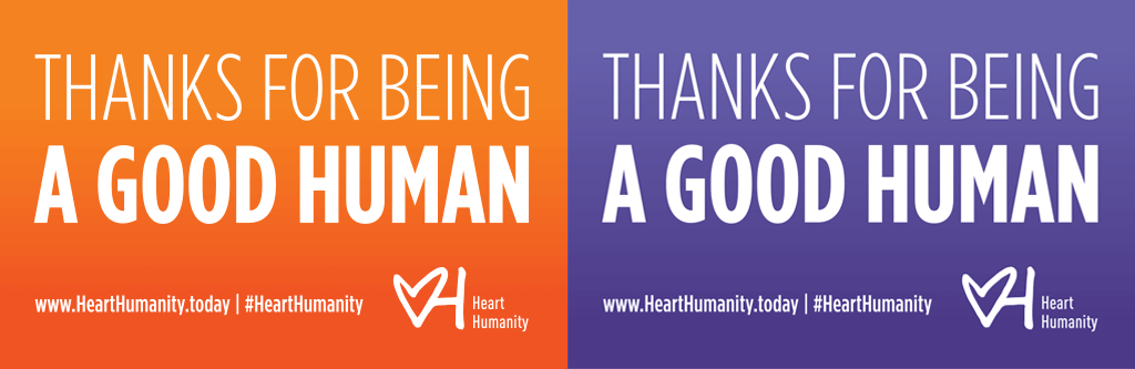 Example of Heart Humanity stickers